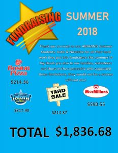 Fundraising Totals Announcment Summer 2018